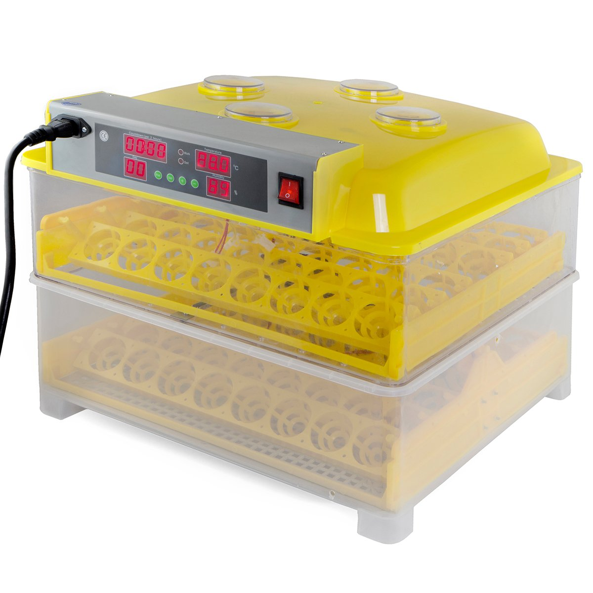 XtremepowerUS Egg Incubator 96 Eggs 2 Layer Digital Control Panel Poultry Hatcher Auto Egg Turner by XtremepowerUS (Image #1)
