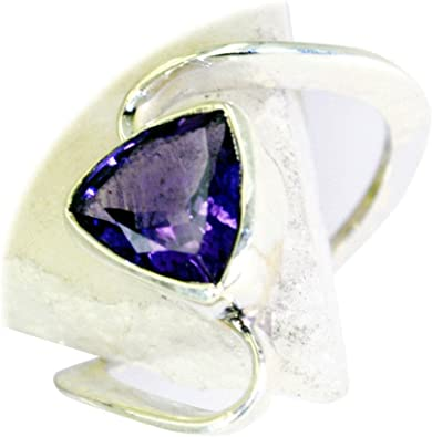 Jewelryonclick Amethyst CZ Gold Plated Statement Rings Women Oval February Handmade Jewelry Size 5-12