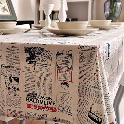 (wrgfhb Literary Cotton and Hemp Small Fresh Tablecloth Art Table Mat Simple Tea Table Cloth Tablecloth Rectangular Table Cloth)
