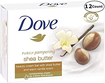 aa1568ff0f5 Amazon.com : Dove Purely Pampering Shea Butter Beauty Bar Soap, 3.5 Ounce /  100 Gram (Pack of 12 Bars) : Bath Soaps : Beauty