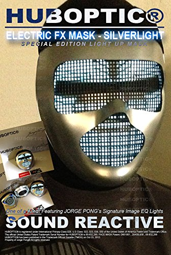 Silver Mask Electric Mask for Rave Edm Dancer Gigs Show Stage Performance Superhero Villain Costume Party (Superheroes Villains Costumes)