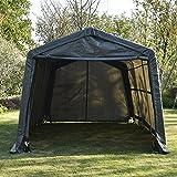Bestmart INC Garage in-a-Box Canopy Carport Deep Gray,10x15x8ft