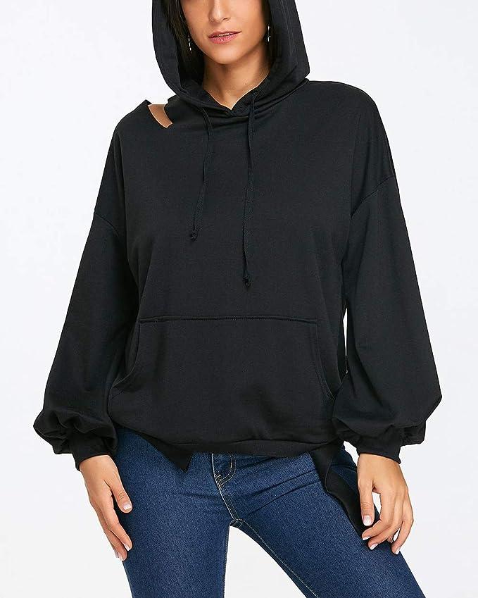 Frühling Herbst Damen Kapuzenpullover Mode Schulterfreies
