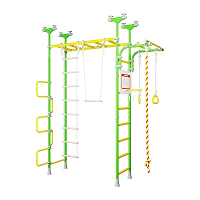 Pegas: Children\'s Indoor Home Gym Swedish Wall Playground Set Gymnastic Ladder Horizontal bar Moving Gymnastic Rings Trapeze Climbing Rope Hole Snake Basketball Swing Gyms Climber: Toys & Games [5Bkhe0206009]