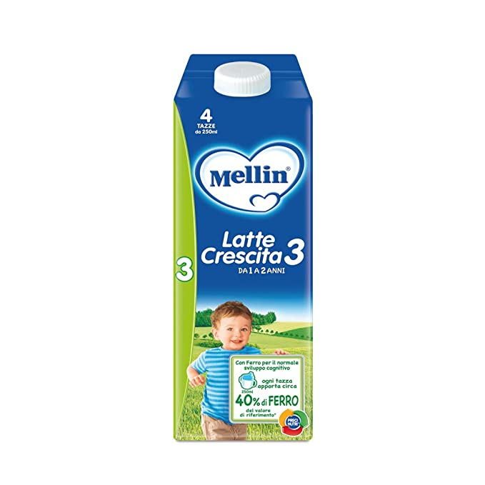 Mellin Leche Crecimiento 3 Líquido – 6 botellas x 1000 ml