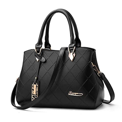 d90be29b547b Dunland Womens Leather Handbag Shoulder Hobo Crossbody Classic Casual Handbags  Black