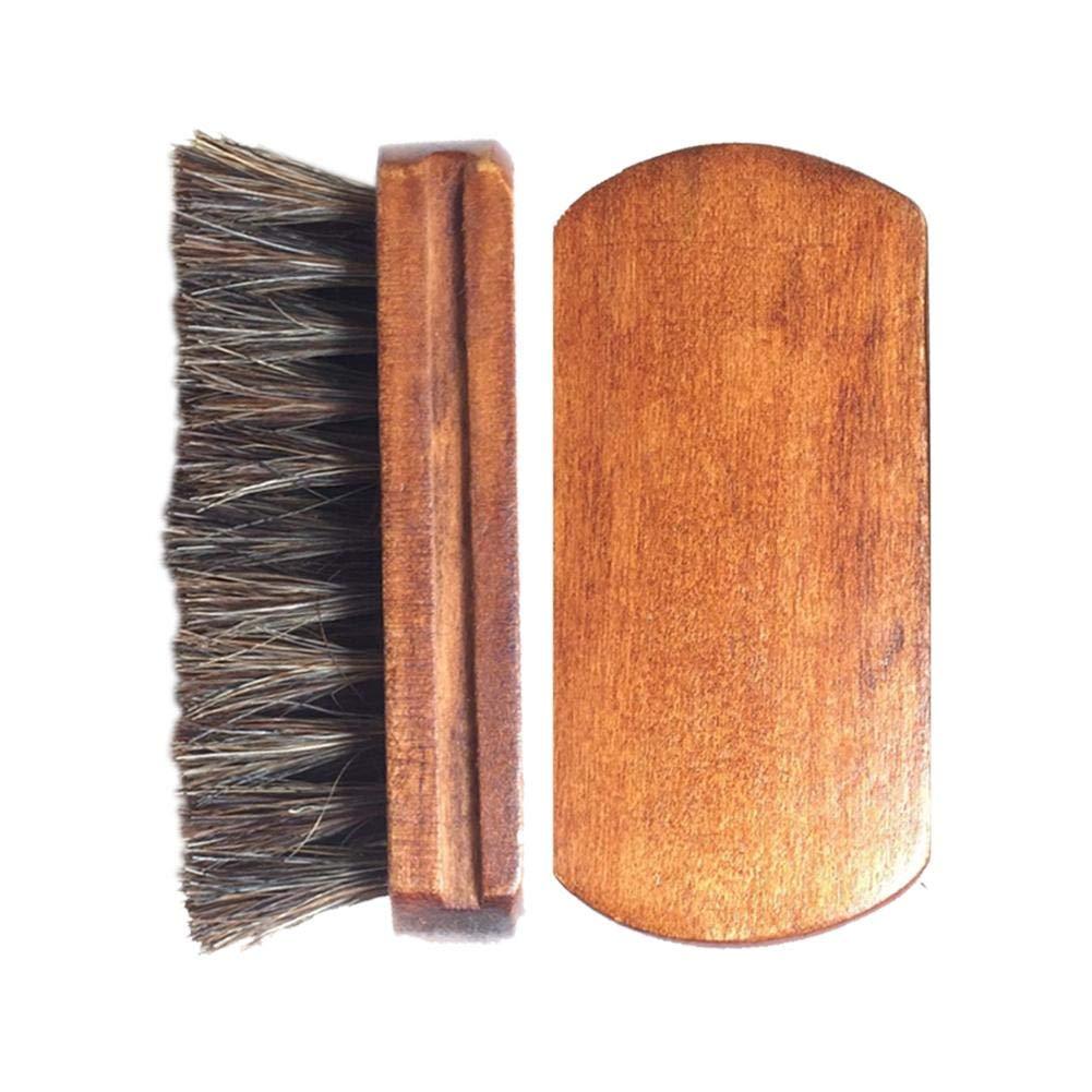 xluckx Cepillo de Coche Cepillo de Cerdas de Caballo Pelo para Asiento Zapatos Conveniente Hogar