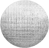 Over-dyed Modern Vintage Rugs Gray 8′ FT Round Palma Collection Area Rug – Perfect for any Place For Sale