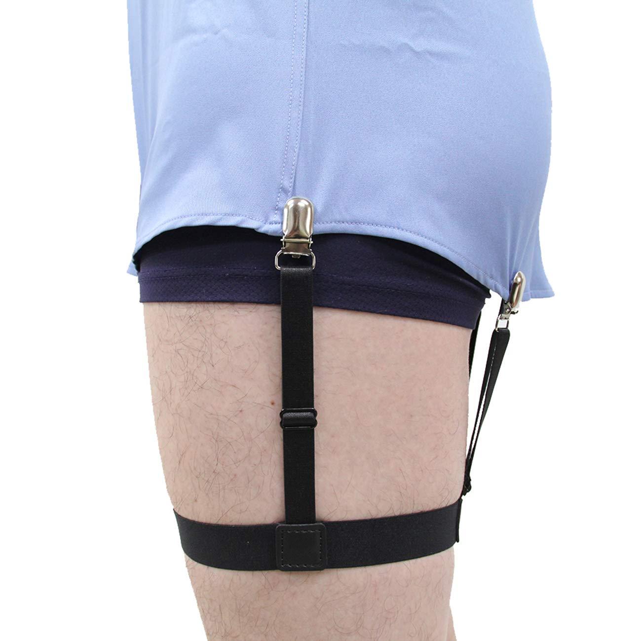 Amazon Jelinda Mens Dress Shirt Stays Adjustable Garter Belts