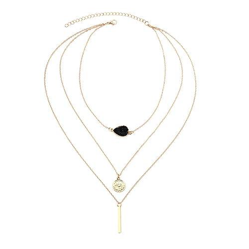 c85ceffa7a97 Bishilin collares y colgantes baratos Redondo collar de múltiples capas  collares mejores amigas  Amazon.es  Joyería