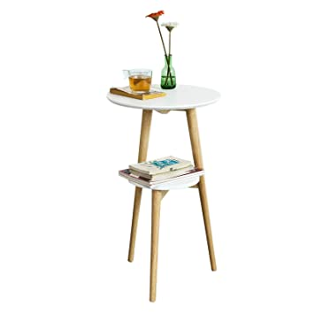 Sobuy Fbt39 W Table Dappoint Design Table Basse Table Café Ronde
