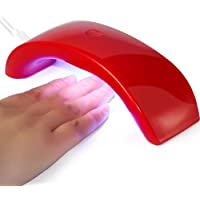 LED / UV Lampara Uñas Del Uñas - RFAIKA USB Kit de Uñas de Gel Luces de Uñas Portátiles, Kit de Manicura Permanente Con Lampara, Lampara Manicura Gel de Uñas, Bastante UV Lamp Productos Para Uñas (Rosa roja)