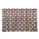 Sunrise Chindi 4×6 Area Rag Rugs Recycled Multi-Color Woven Fabric Casual For Home Decor Dorm Living Room Entryway Hardwood Bedroom Review