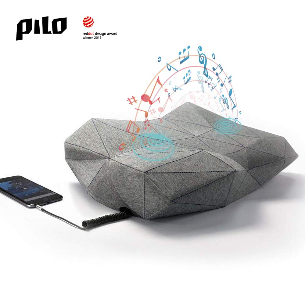 PILO Classic Ergonomic Smart Music Pillow, Orthopedic Contour Neck Pillow of Memory Foam & Bamboo Charcoal, Anti Snore Sound Therapy Pillow with Binaural Speakers, White Noise & Themed Sound Sleep-Aid by Pilo (Image #10)