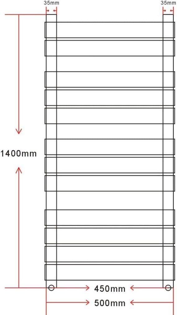 vidaXL vidaX Radiatore Riscaldamento Centrale 500 x 1424 mm Medio e Laterale
