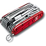 "VICTORINOX Couteau d'officier ""SwissChamp XLT"" rouge transparent"
