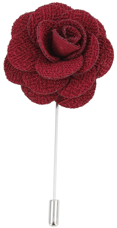 Burgundy Flower Lapel Pin by David Van Hagen