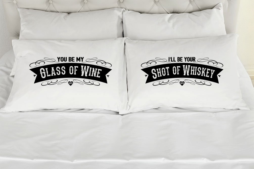 Amazon Set Of 2 Standardqueen Couples Pillow Cases My Glass