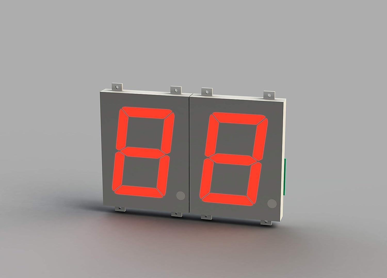 シフトレジスタ入力 7セグメント表示器 HBK-CS120RX12 文字高:120mm 発光色:赤 2桁