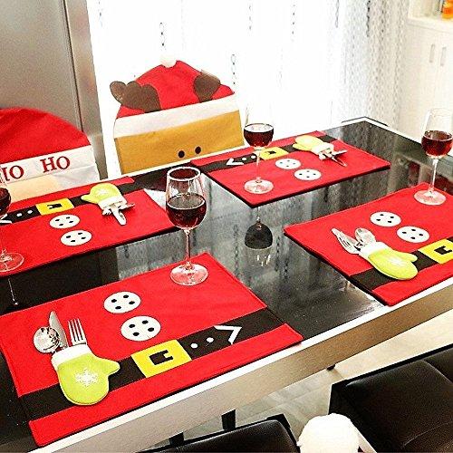 Christmas Table Mats Set of 6 Xmas Decors Food Dinning