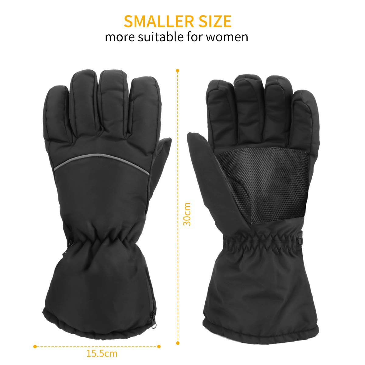 E-More Heated Gloves for Women Winter Thermal Heating Gloves Hand Warmers Battery Powered Windproof Gloves for Outdoor Sports Motorcycle Cycling Riding Skiing Skating Hiking Walking