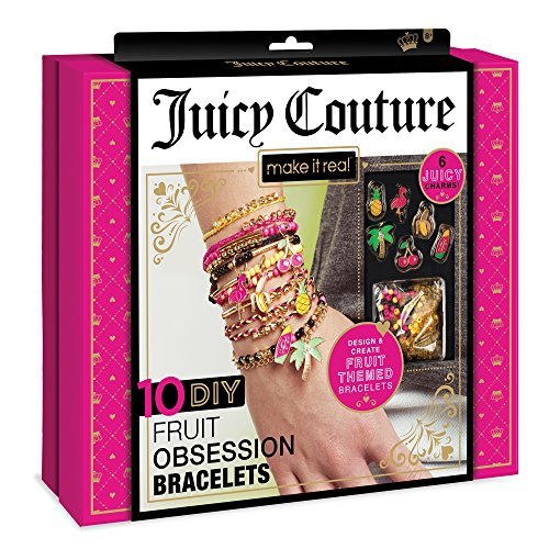 - Make It Real – Juicy Couture Fruit Obsession Bracelets. DIY Bracelet Making Kit for Girls. Design and Create Girls Bracelets with Juicy Couture Charms, Beads, Gold Bangle, Nylon and Cotton Threads