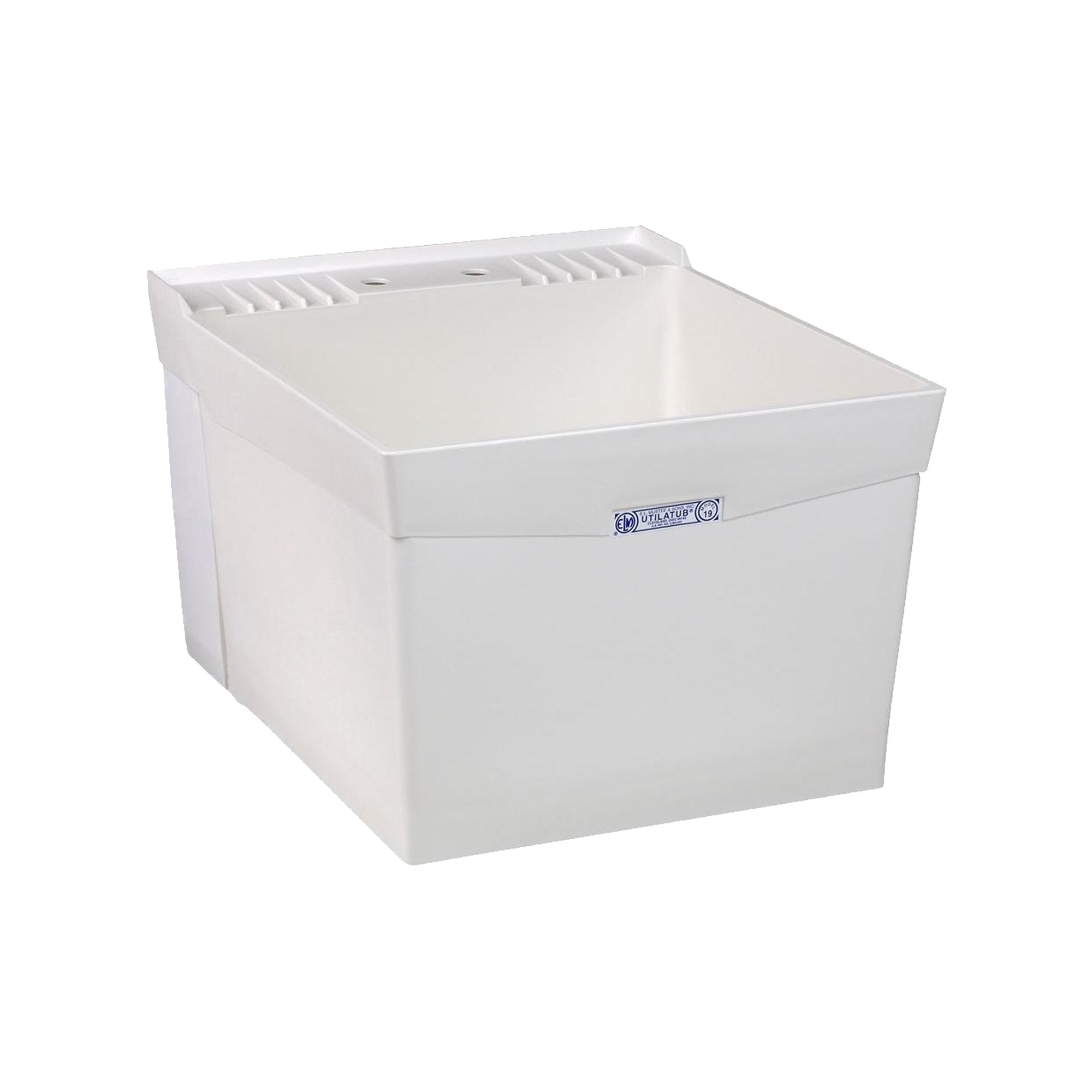 Mustee 18W Utilatub Laundry Tub Wall Mount, 24-Inch x 20-Inch, White by Mustee