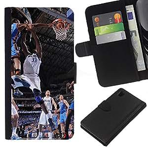 Dallas 33 Baloncesto - la tarjeta de Crédito Slots PU Funda de cuero Monedero caso cubierta de piel Para Sony Xperia Z1 L39