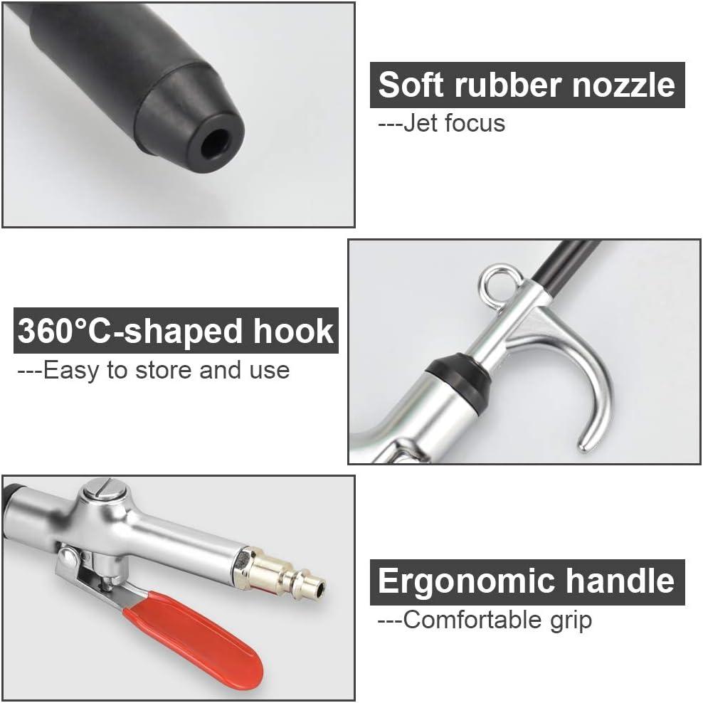 SNAGAROG avec buse r/étractable Soufflette /à air comprim/é,NanHong Pistolet soufflette Metal Blowgun Rotation /à 360/°soufflette compresseur Buses /évolutives