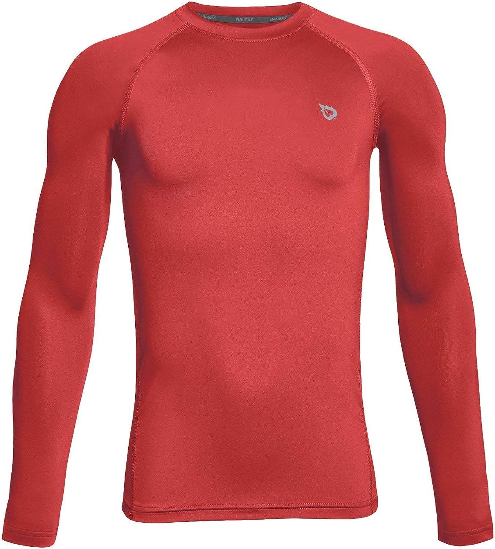 BALEAF Boys' Youth Compression Shirts Long Sleeve Undershirts Performance Baselayer