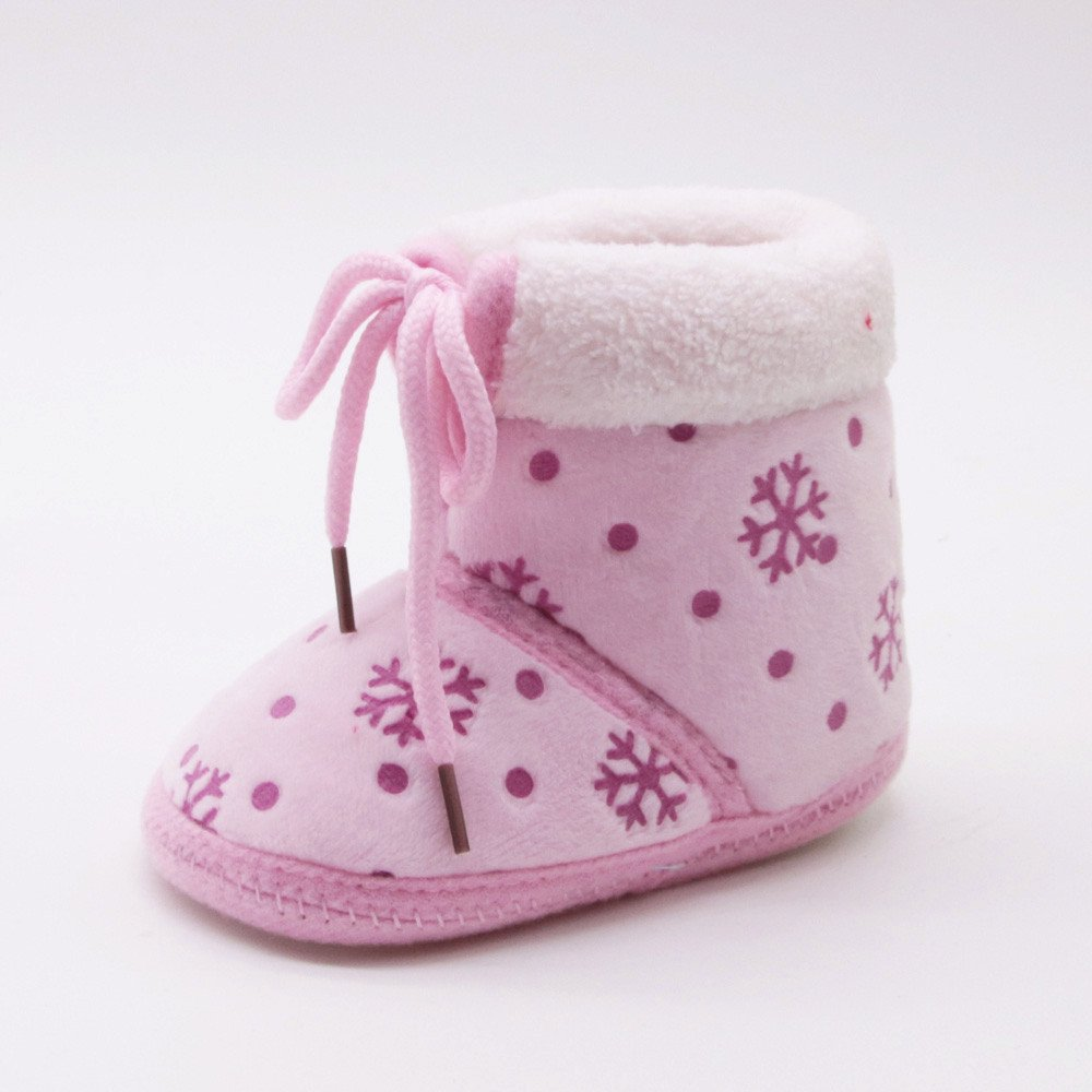 Zapatos Bebe Ni/ño Recien Nacido Invierno Algod/ón Zapatos de Ni/ño Primeros Pasos Antideslizante Caliente 0-18 meses Fossen Kids Navidad Botas de Nieve Bebe Ni/ña de Felpa