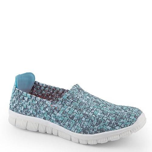 Ideal Shoes - Zapatillas Deportivas Trenzadas y Colores Reana, Turquesa (Turquesa), 38: Amazon.es: Zapatos y complementos