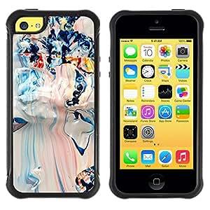 "Pulsar iFace Series Tpu silicona Carcasa Funda Case para Apple iPhone 5C , Blanco Azul mixta Arte Pollock"""