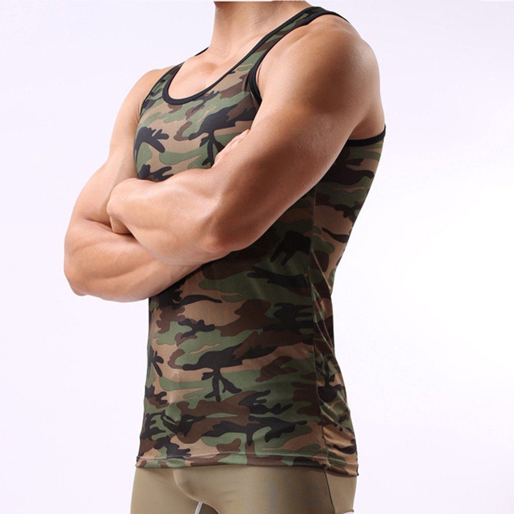 Men's Camouflage Vest, Sportswear Tank Top Military Sleeveless,SUNSEE TEEN NEW by Sunsee (Image #4)