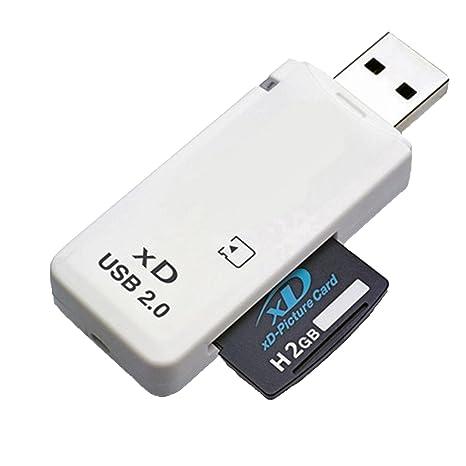 Lupo® Lector de Tarjetas de Memoria XD USB 2.0 para Cámaras Fuji & Olympus (Compatible con Windows + Mac)