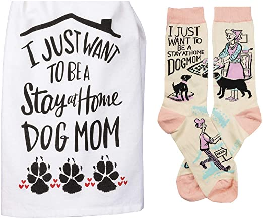 I Just Want to be a Stay at Home Dog Mom Flour Sack Towel Set