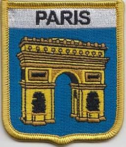 Francia Paris Champs-Servicio es Arco de Triunfo bandera bordada remiendo