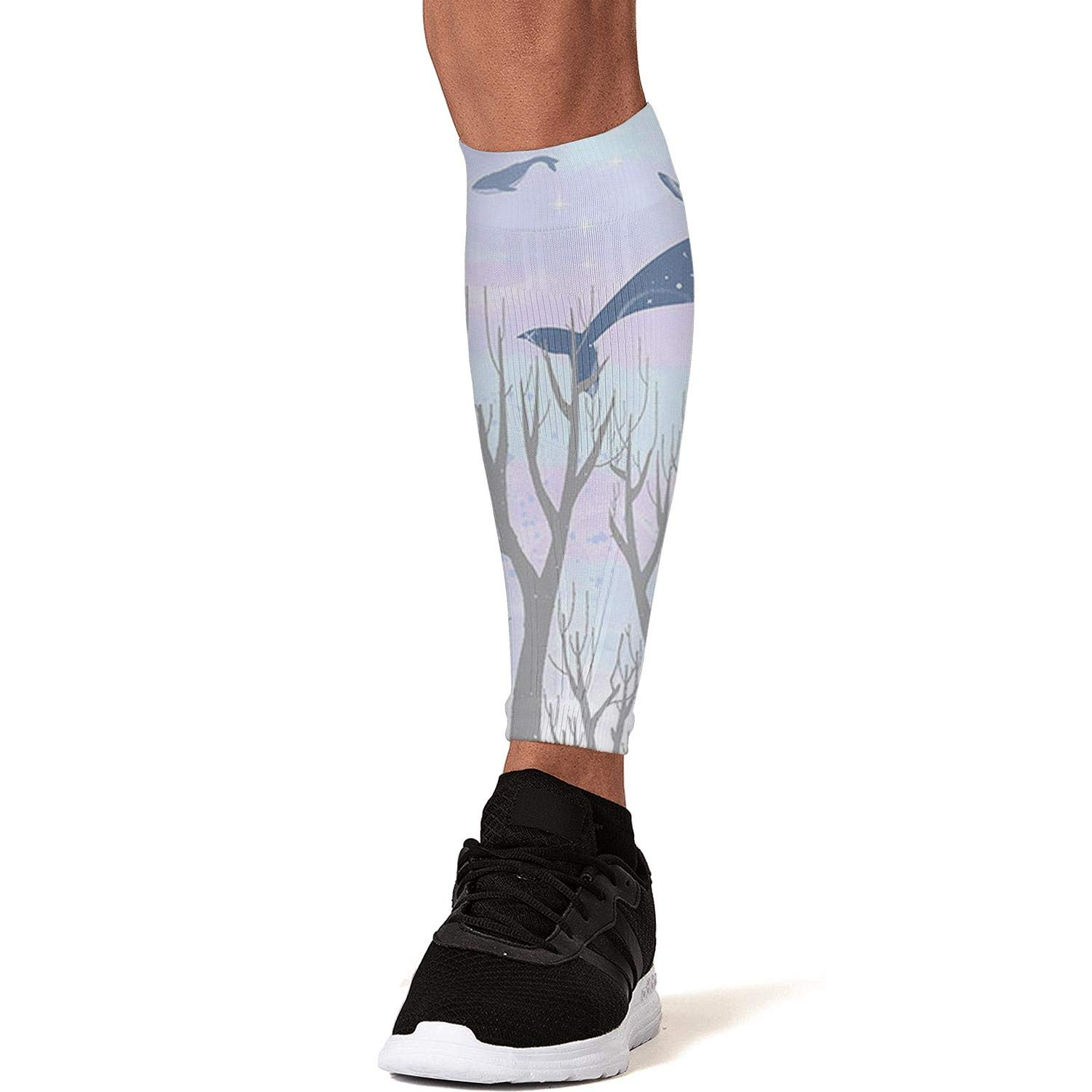 Smilelolly Whales Calf Compression Sleeves Helps Pain Relief Leg Sleeves for Men Women