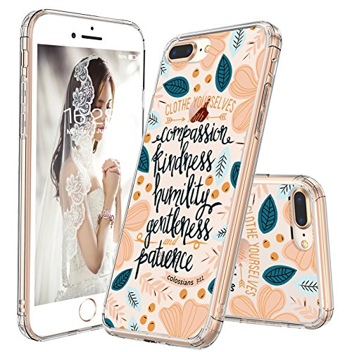 official photos 2d2ad 538fd MOSNOVO iPhone 8 Plus Case, iPhone 7 Plus Clear Case, Clothe Yourselves  Floral Flower Quote Clear Design Back Case with TPU Bumper Cover for iPhone  7 ...