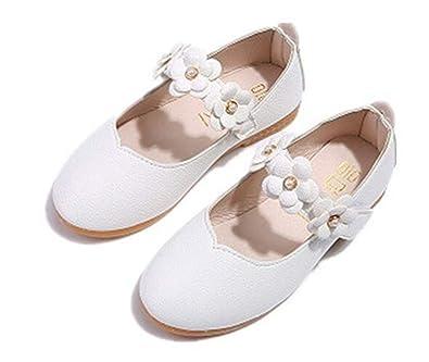 cd19d200352ca Snaked cat Chaussures Plates Douces d'Enfant Fille Soulier en PU Cuir pour  Le Mariage