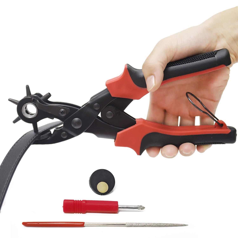 Qstyle Pince Perforatrice Pince Cuir Poinç on Pinces Emporte-piè ces Perforateur pour Bracelet de Montre Cuir Papier Ceinture