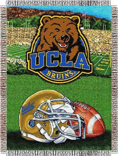 Pacific Basketball Collegiate (The Northwest Company Officially Licensed NCAA UCLA Bruins Home Field Advantage Woven Tapestry Throw Blanket, 48