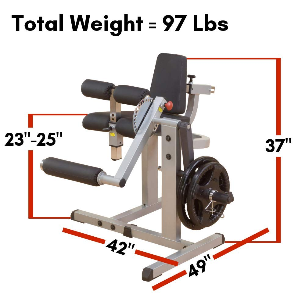 Body-Solid Cam Series Leg Extension and Curl Machine (GCEC340) by Body-Solid (Image #4)