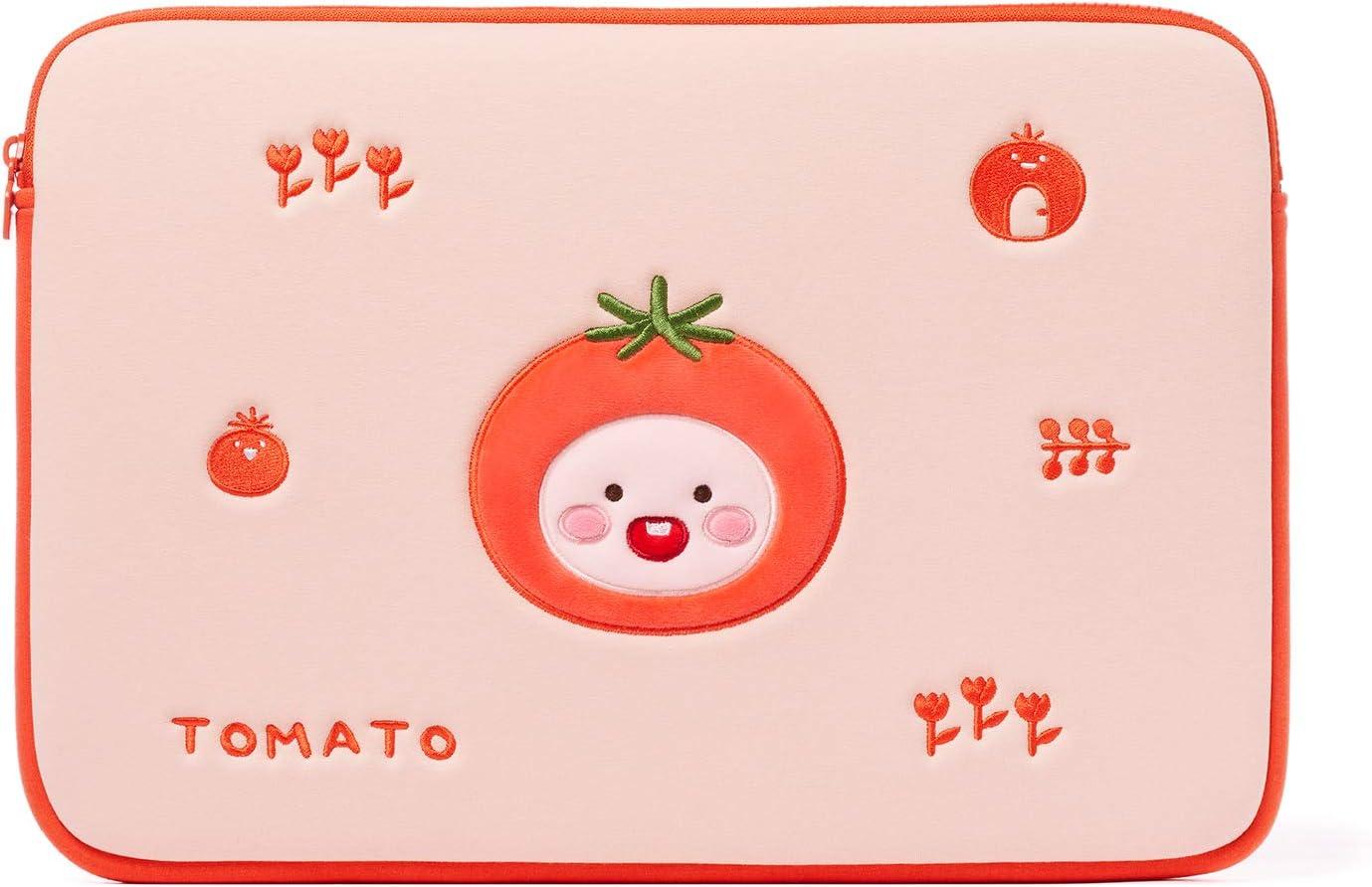 KAKAO FRIENDS Official- YumYum Friends 15 Inch Protective Laptop Sleeve Pouch (Little Apeach)