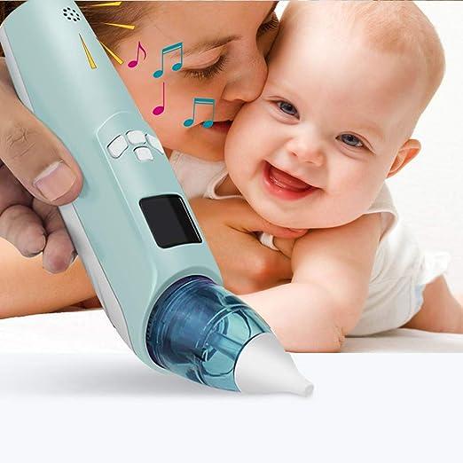 CSFM-Care Aspirador Nasal para bebé portátil - 3 velocidades Ajustables Pantalla LCD y Musica Luz Intermitente, Proporciona succión Segura Nariz y Limpia Suavemente el moco del bebé: Amazon.es: Hogar