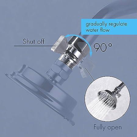 Amazon.com: KES shut-off válvula de ducha con interruptor de ...