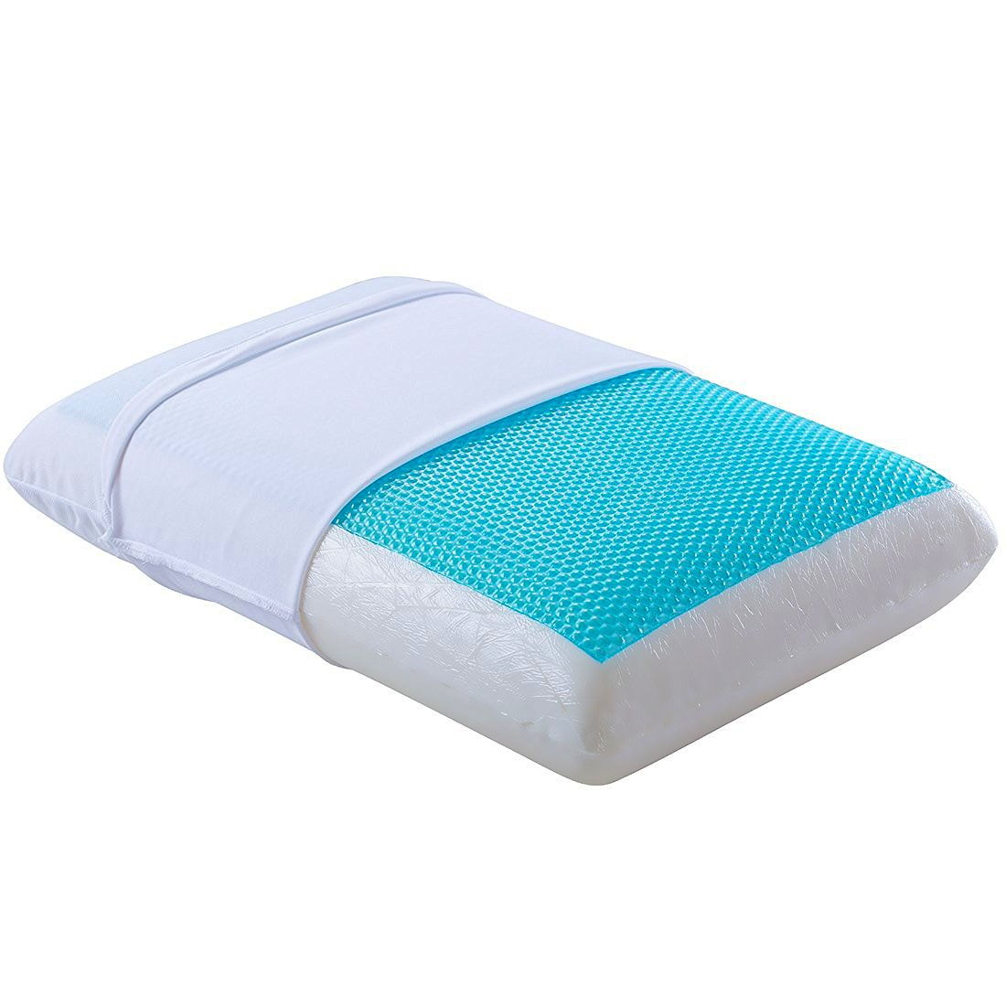 Cr sleep cool gel memory foam pillow for all sleepers for Best cooling body pillow