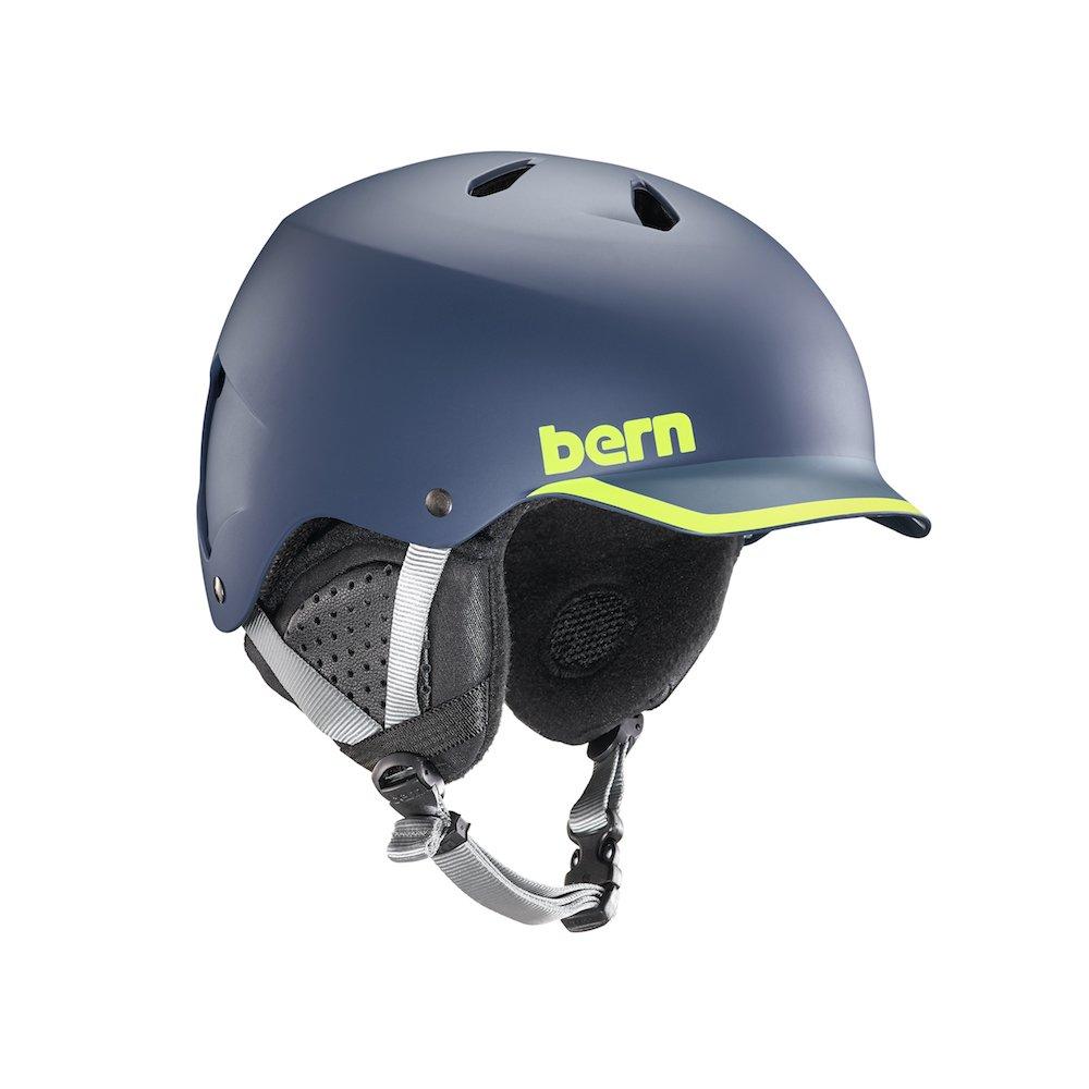 BERN Helmets Watts EPS Matte Navy/Hyper Green Trim - Medium