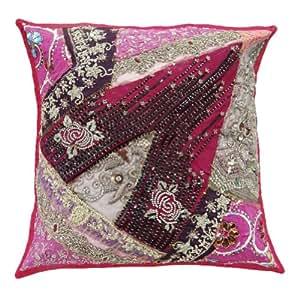 """Cojín de regalos Indian Cubierta rosada Decoración Patchwork bordados Sofá Almohada decorativa Caso 16 pulgadas """""""