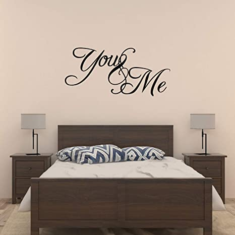 You and me bedroom Vinyl Wall Decal Sticker Quote Art Love Saying